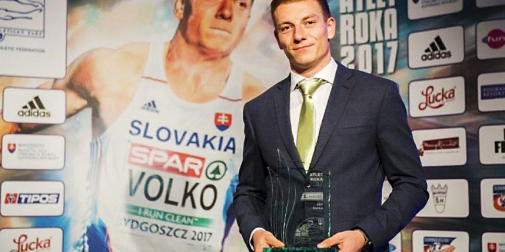 Atlétom roka 2017 je šprintér Ján Volko